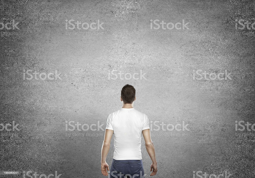 man standing back royalty-free stock photo