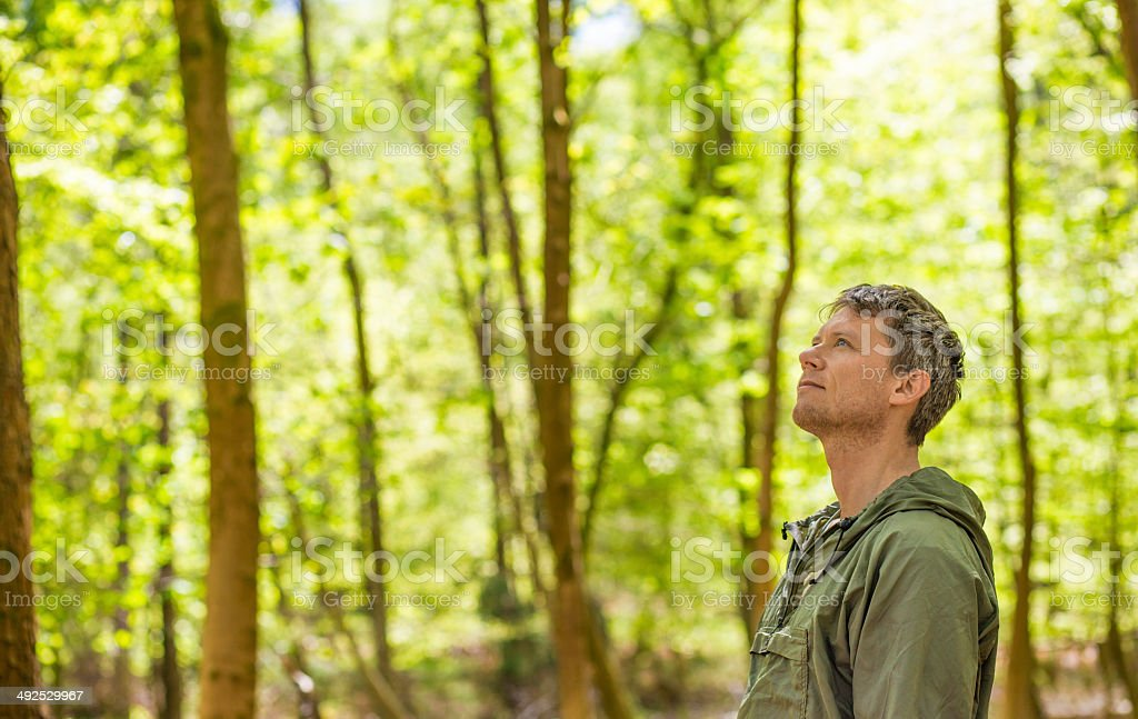 Man standing in a forest - Royalty-free 30-39 Years Stock Photo