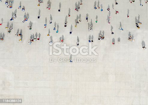 Man standing out of a Crowd