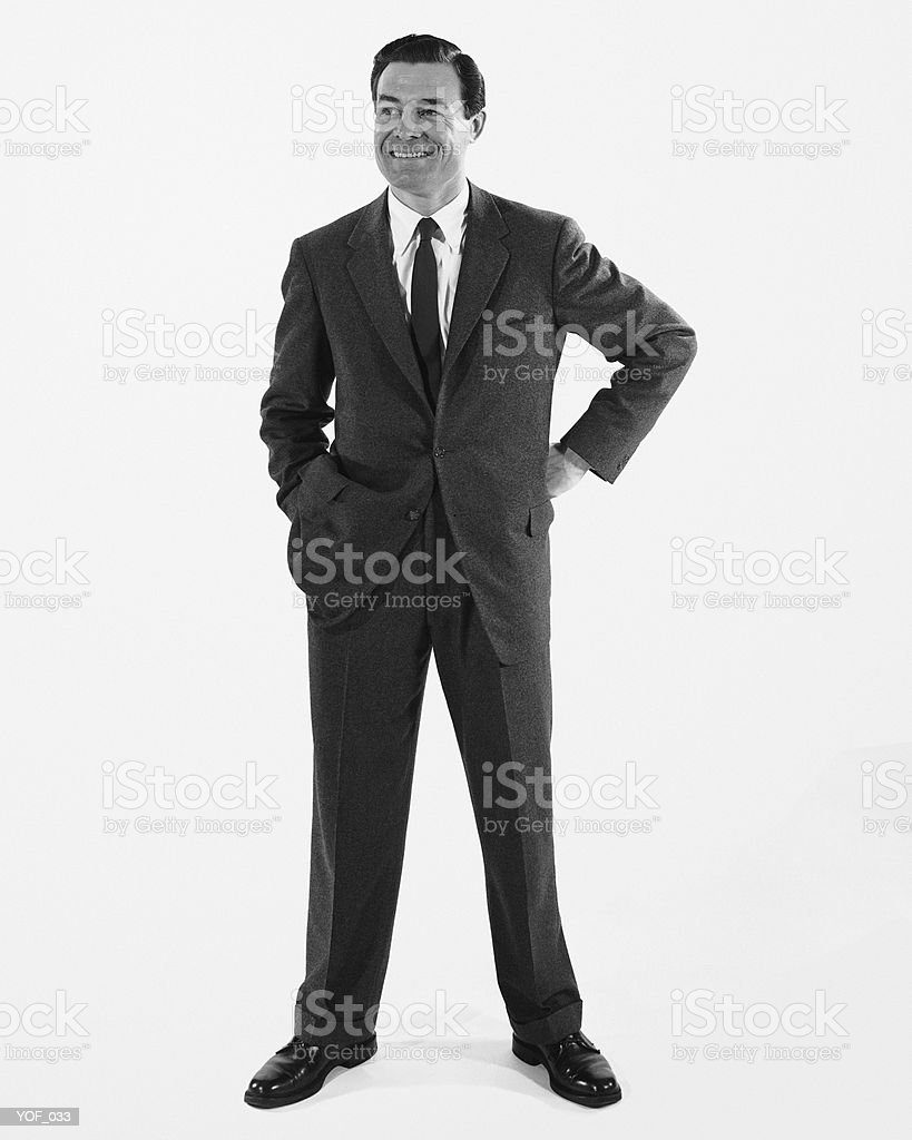 Man standing, smiling royalty-free stock photo