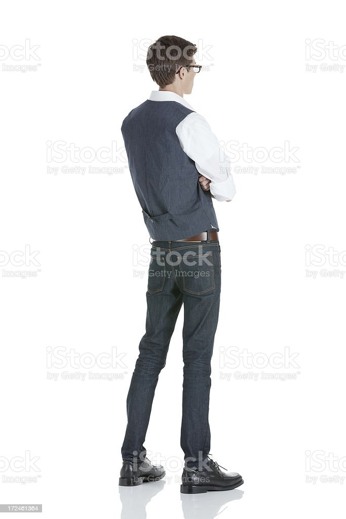 Man standing with arms crossed royalty-free stock photo