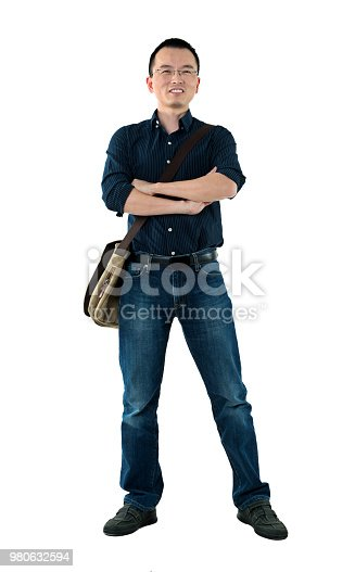 istock Man standing with arms crossed 980632594