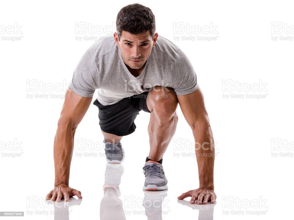 Man start running – Foto
