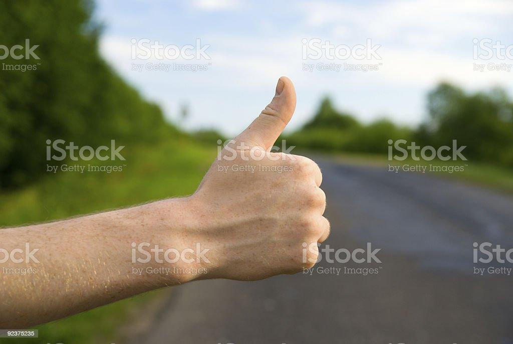 man stopping car royalty-free stock photo