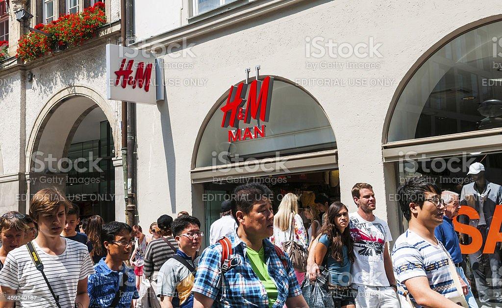 H M Mann Store Window Einkaufsmöglichkeiten In München Deutschland