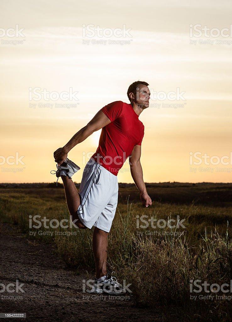 Man Stretching royalty-free stock photo