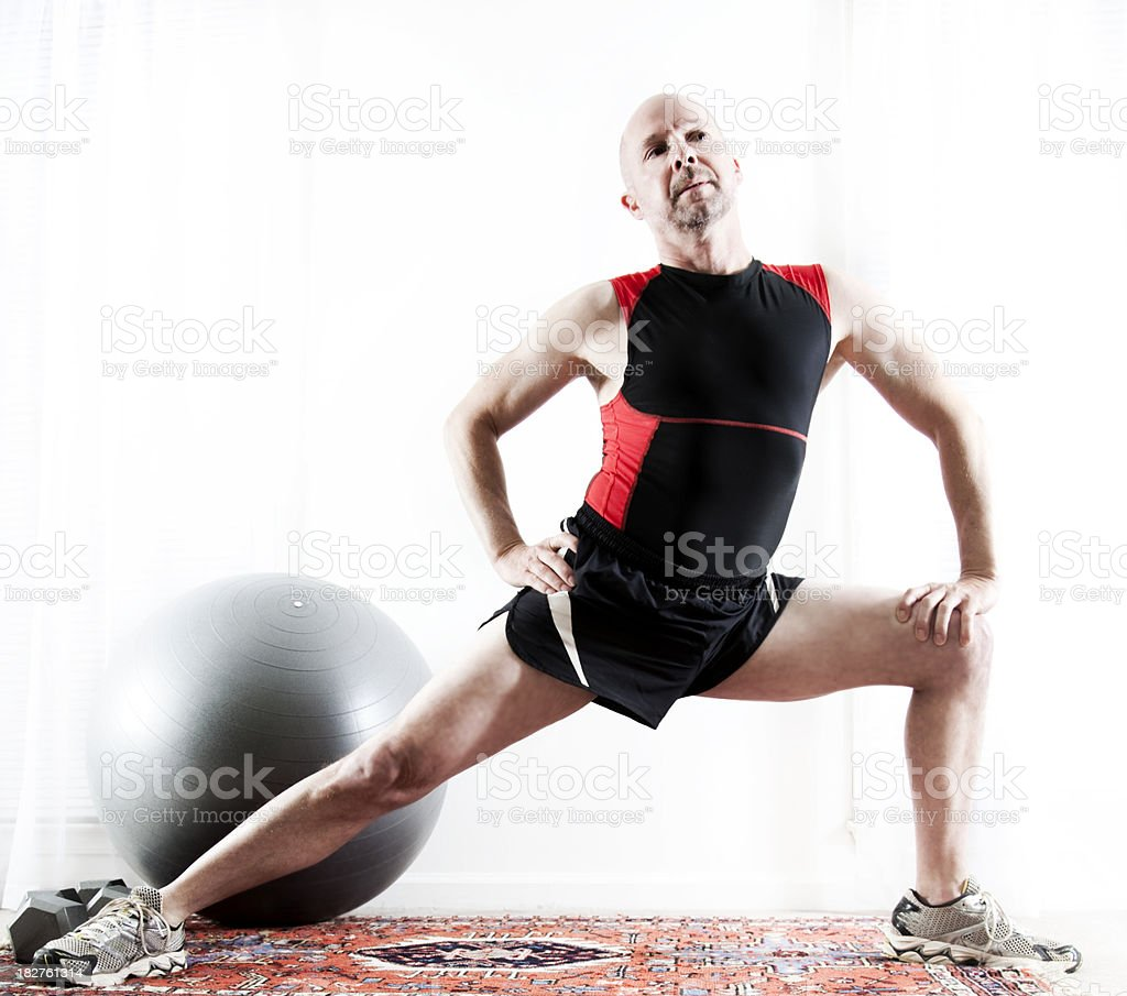 Man Stretching royalty-free stock photo