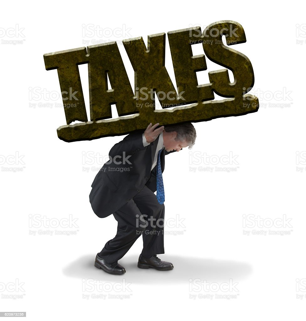Man struggling to carry and pay huge tax burden – Foto
