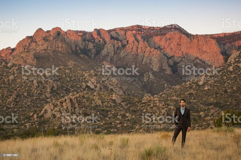 man success nature inspiration stock photo