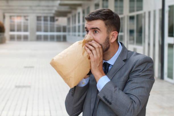 """Image result for Bernapas menggunakan kantong kerta"""""""