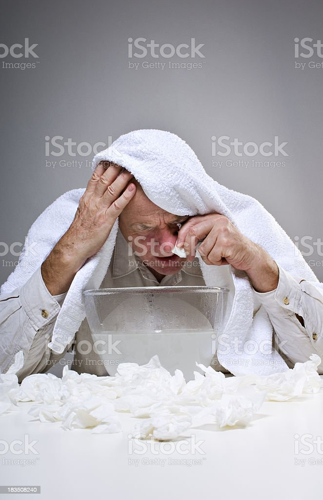 Man Suffering From A Cold stock photo