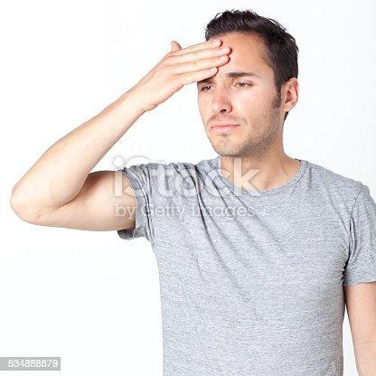 534891769 istock photo Man suffering from headache 534888879
