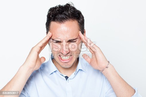 534891769 istock photo Man suffering from strong pain 530850817