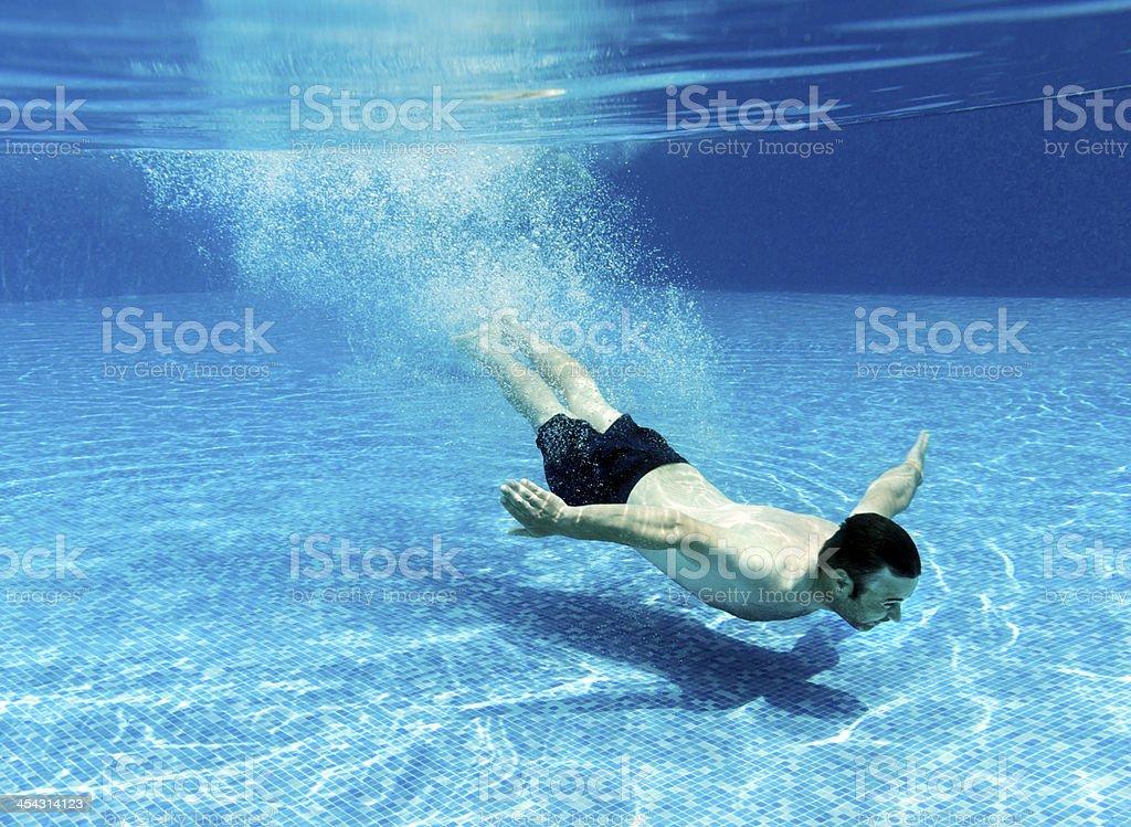 man swimming royalty-free stock photo