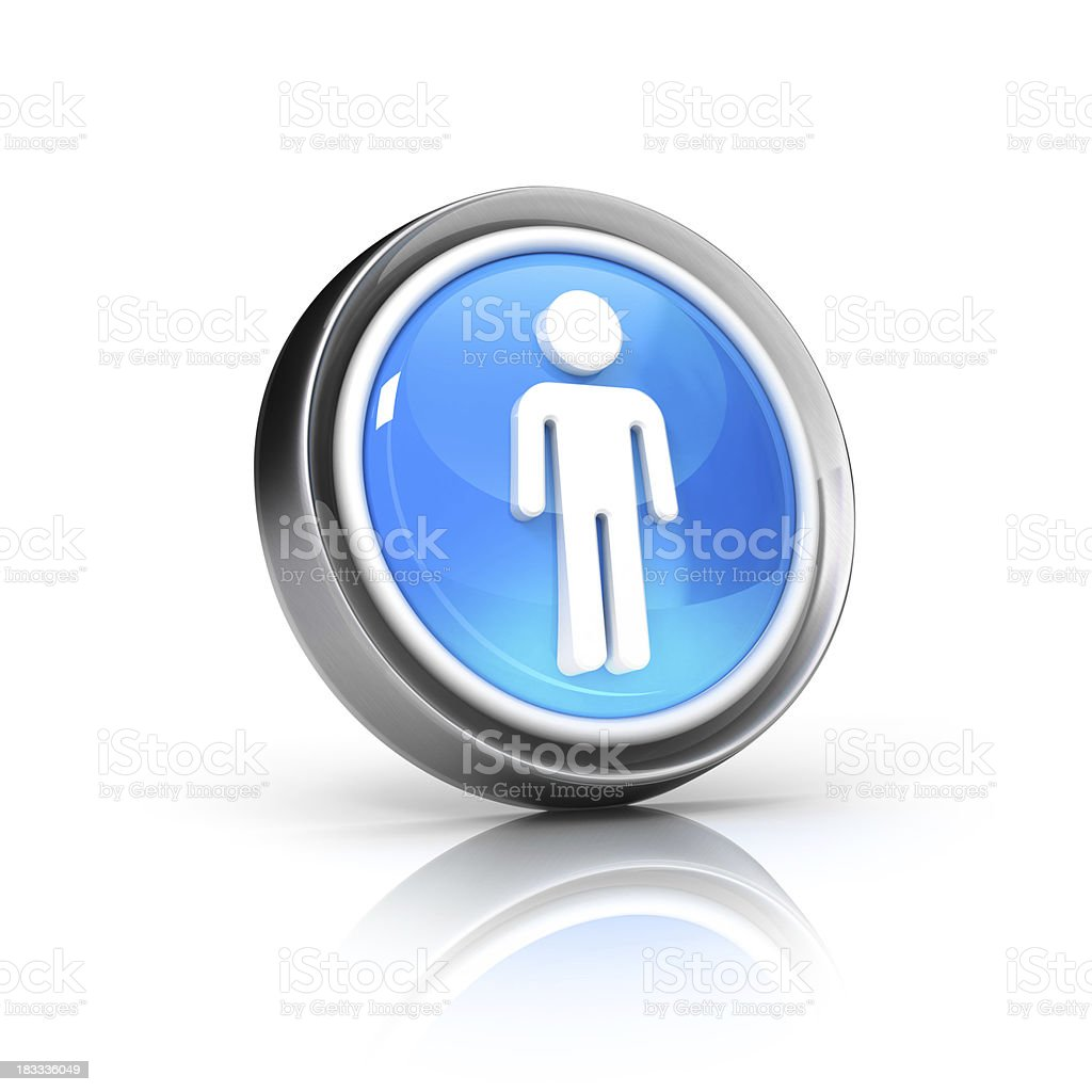 Man Symbol Icon royalty-free stock photo