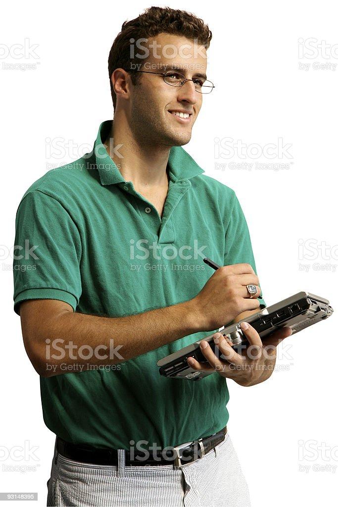 Man Taking Notes royalty-free stock photo