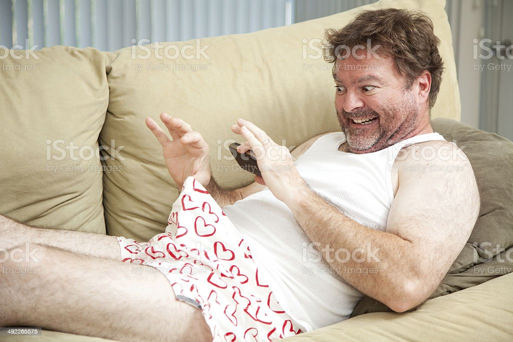 Man Taking Photo of His Junk stock photo