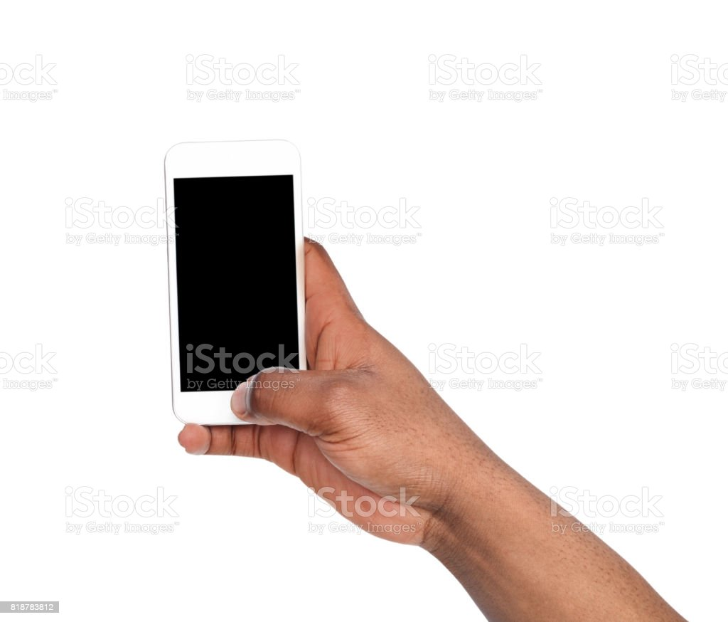 Man taking picture using smart phone stock photo