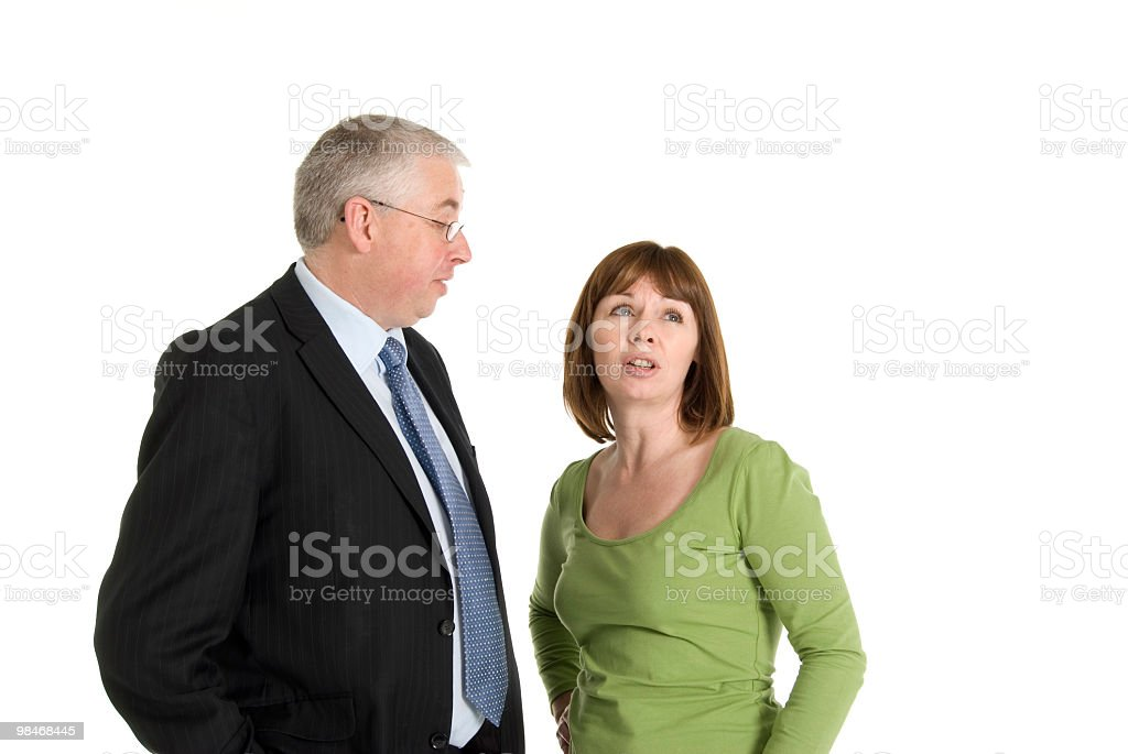 Man Talking Bored Woman royalty-free stock photo