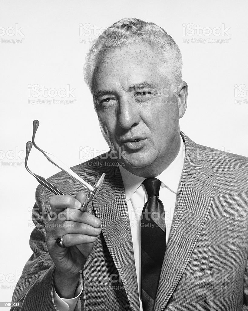 Man talking, holding glasses royalty-free stock photo