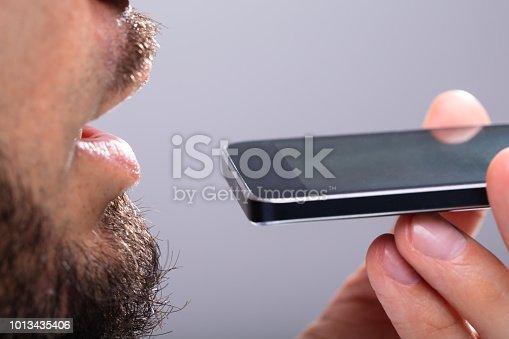 istock Man Talking On Mobile Phone 1013435406