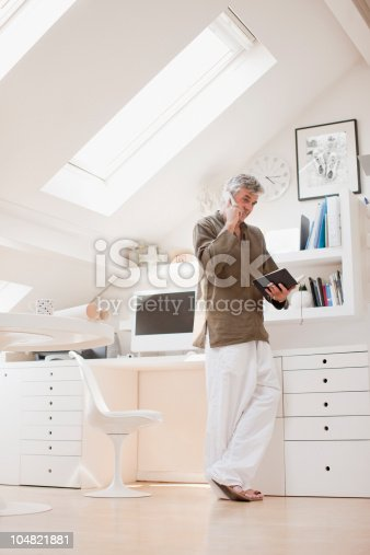 Woman looking into the skylight