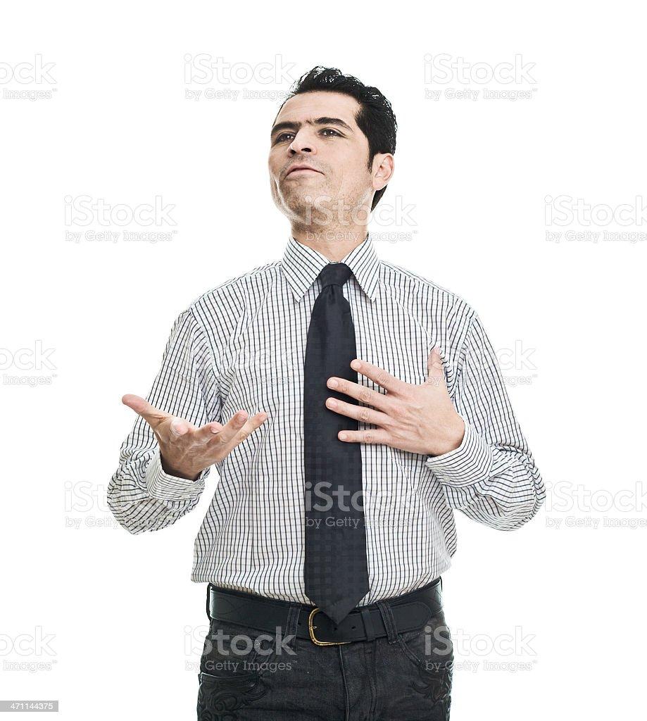 Man Talking royalty-free stock photo