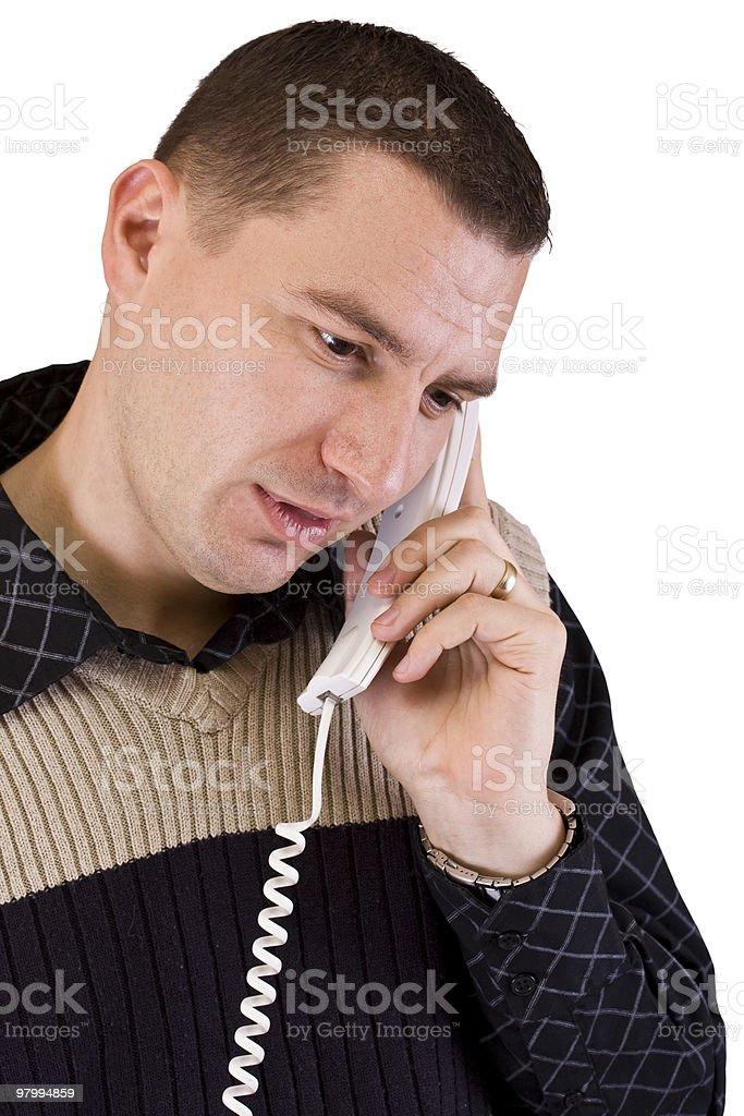 man talking royalty free stockfoto
