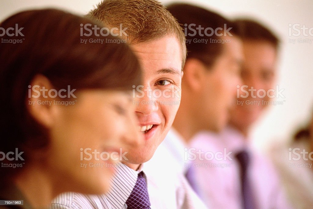 Man talking to woman 免版稅 stock photo