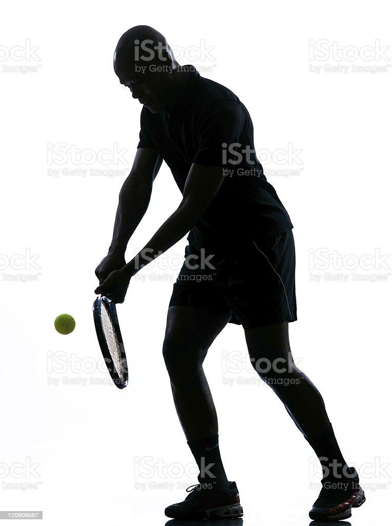 man tennis player backhand royalty-free stock photo