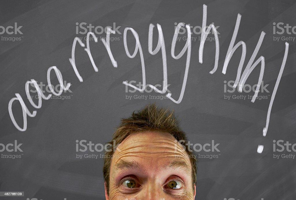 Man Thinking aaarrrggghhh royalty-free stock photo