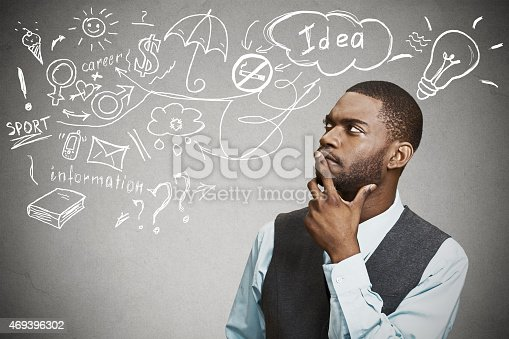 istock man thinking dreaming has many ideas looking up 469396302