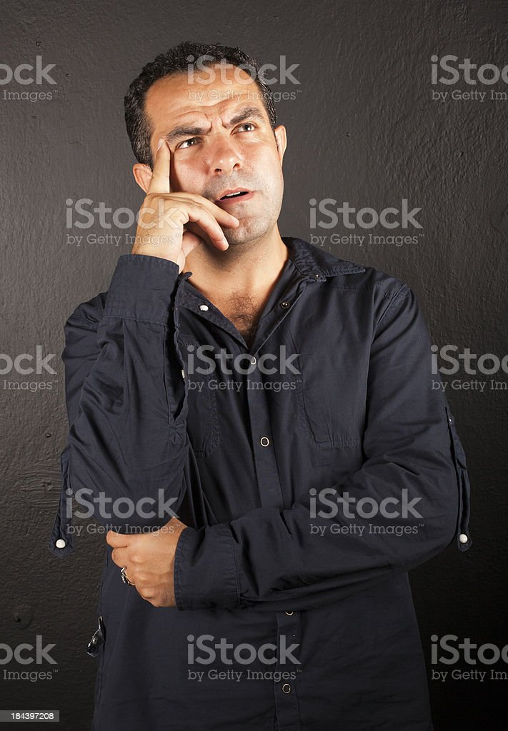 Man thinking options royalty-free stock photo