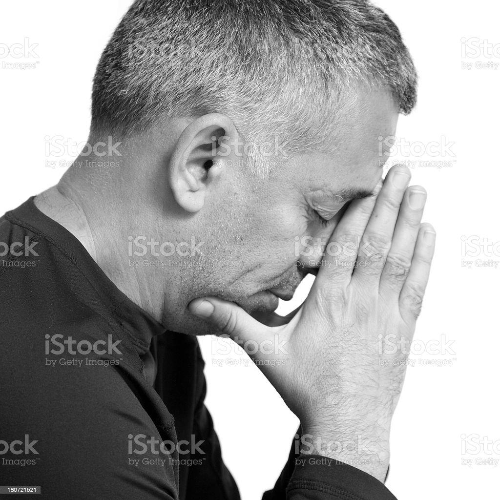 Man thinking royalty-free stock photo