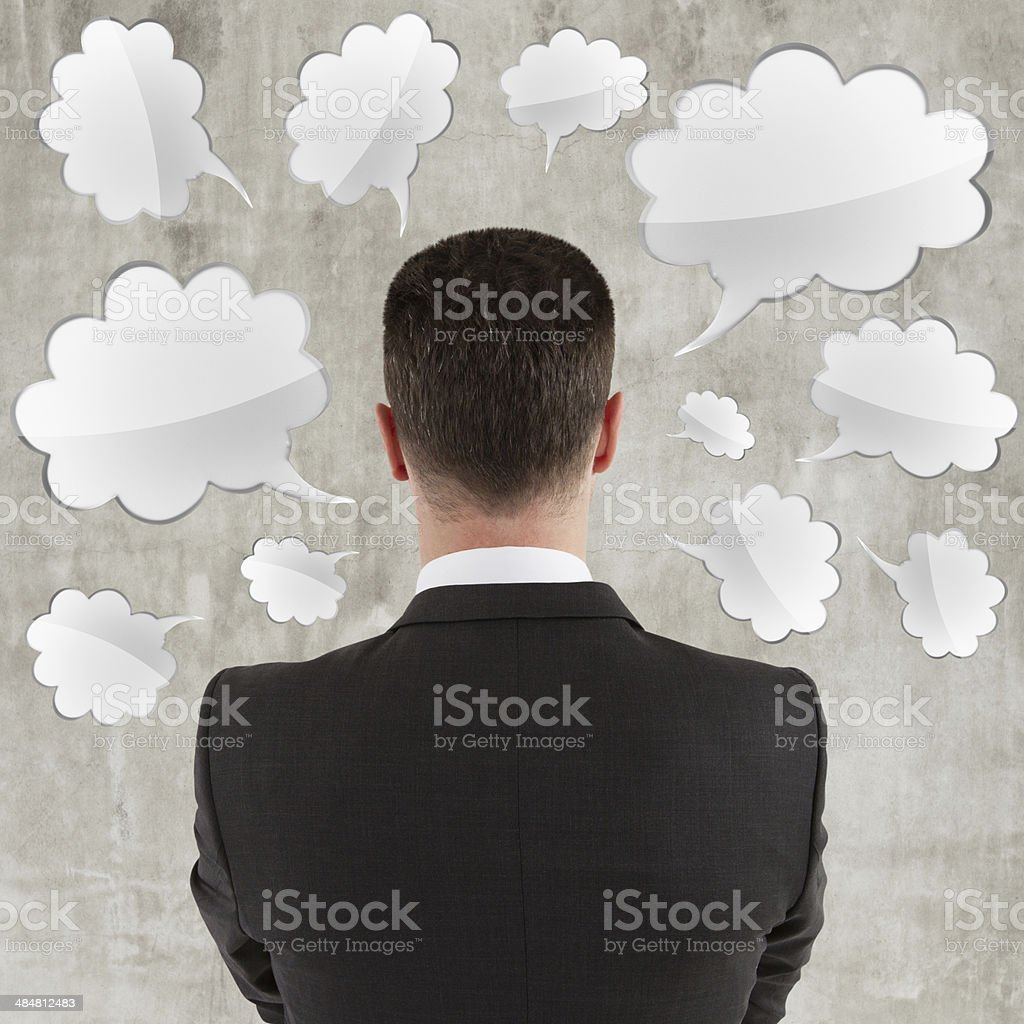 man  thinking royalty-free stock photo
