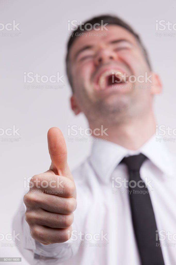 man thumbs up royalty-free stock photo
