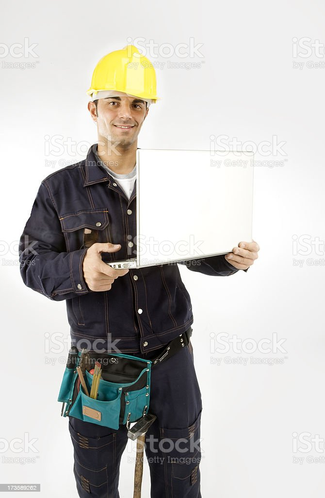 Man to work royalty-free stock photo