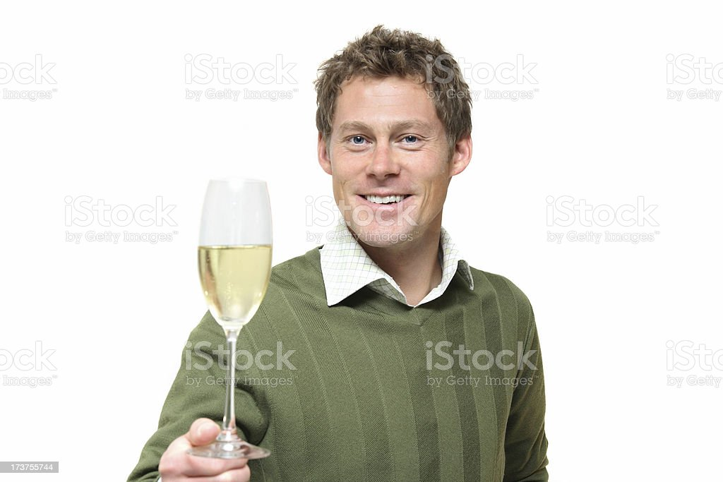 Man Toasts stock photo