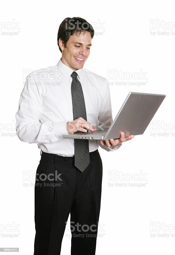 Man typing on laptop royalty-free stock photo