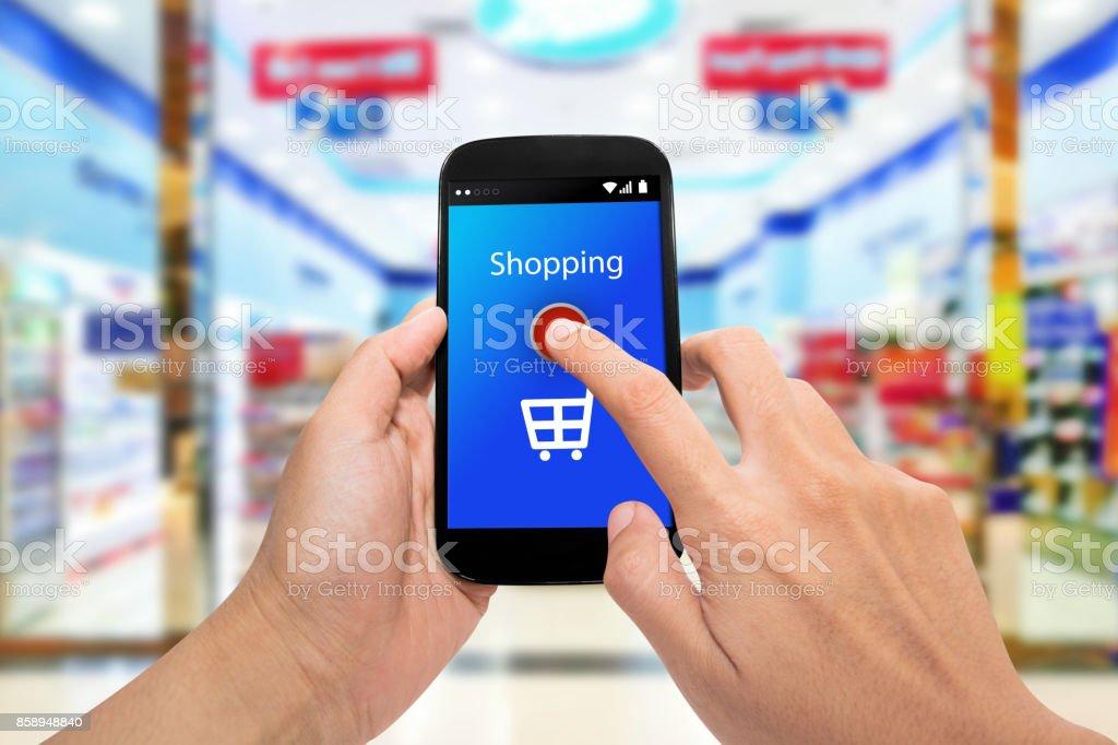 Man use mobile phone stock photo