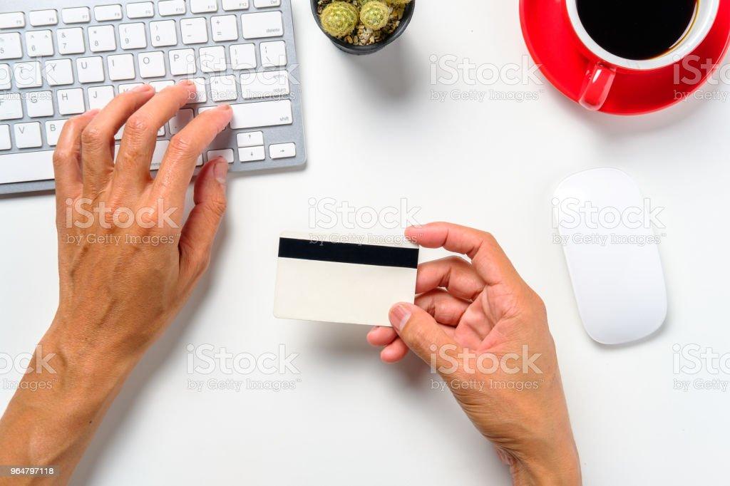 Man using credit card royalty-free stock photo