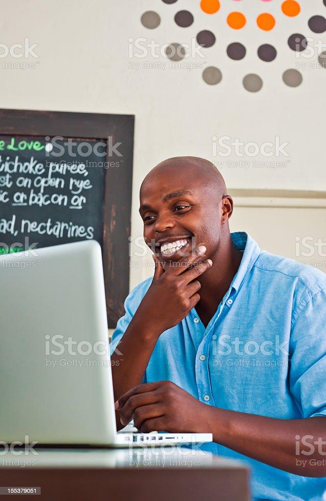 Man using laptop  Adult Stock Photo