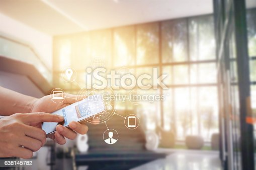 629776586 istock photo Man using mobile payments online shopping and icon customer 638145782