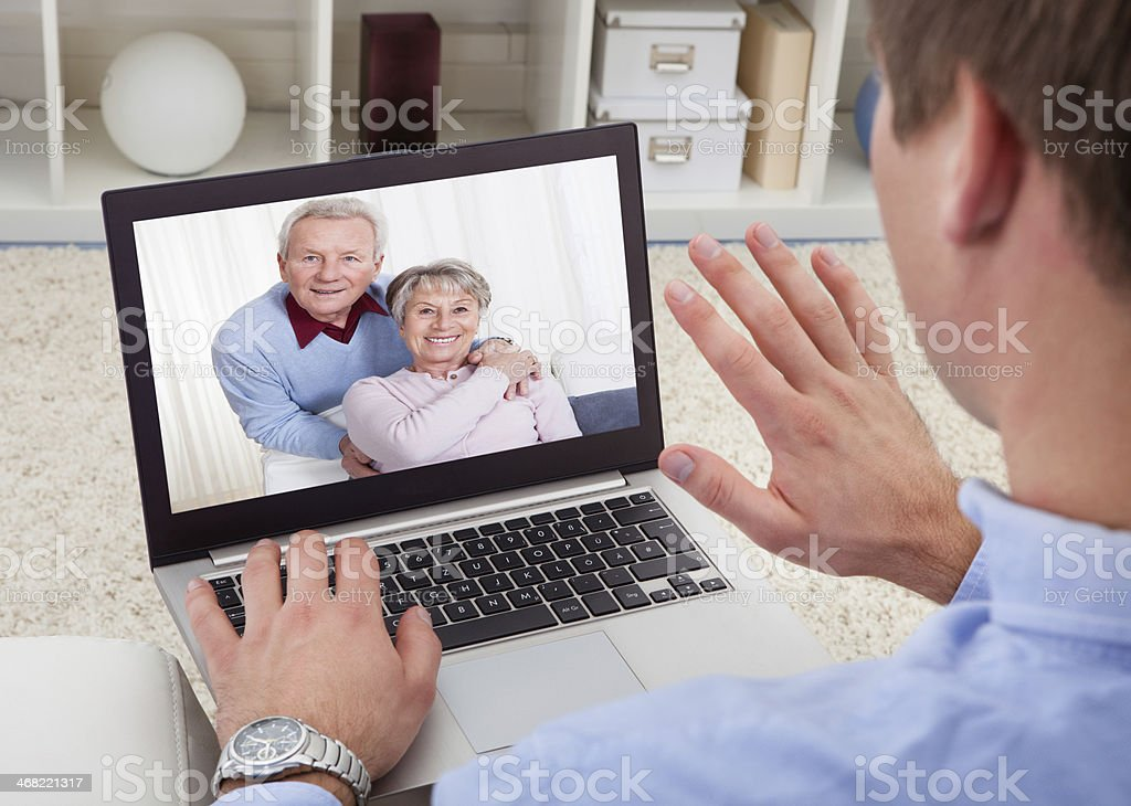 Senior webcam chat
