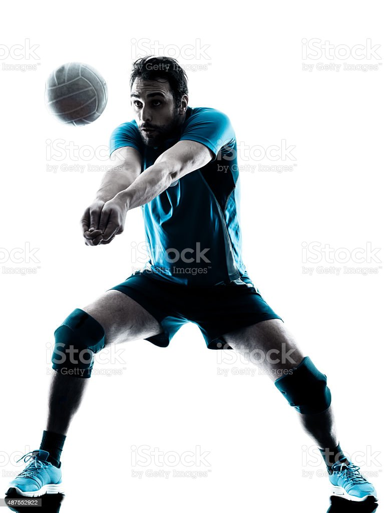 man volleyball  silhouette stock photo