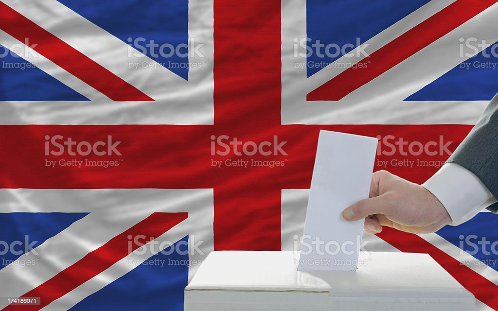 man voting on elections in great britain royalty-free stock photo
