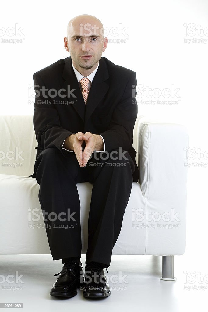 Man Waiting On Couch royalty-free stock photo