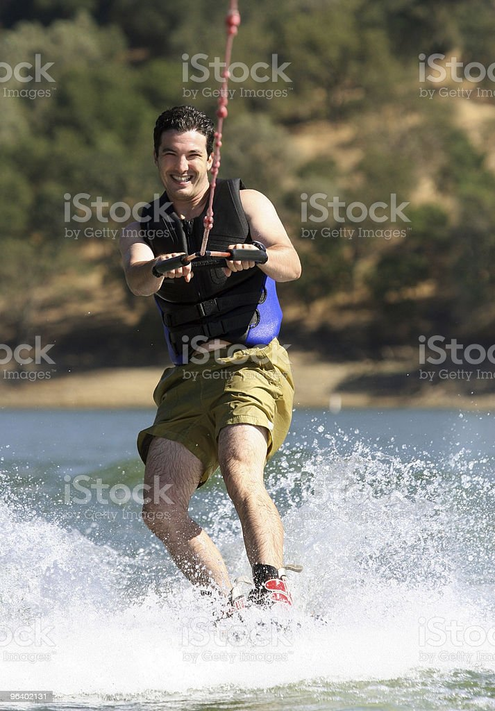 Man Wakeboarding - Royalty-free Activity Stock Photo