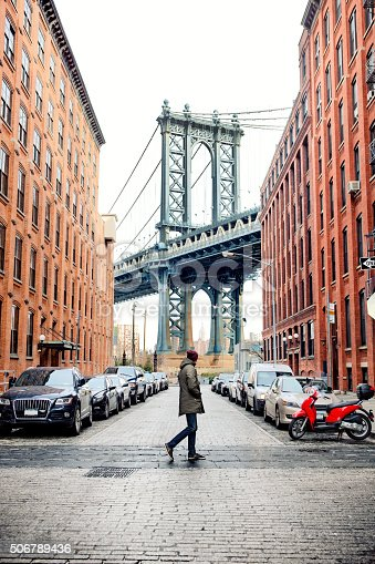Man walking in Brooklyn