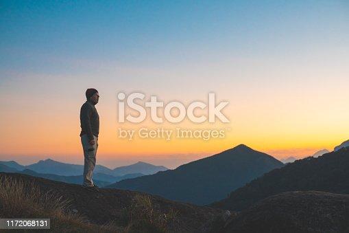 Mountaineering, Hiking, Majestic, Sunset, Sunbeam